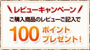 ご購入商品のレビューご記入で100ptプレゼント!