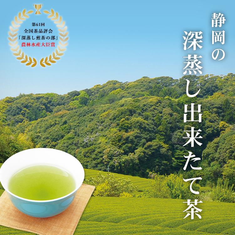 【蔵出し茶】静岡牧之原産 茶農家直送便 深蒸し出来たて茶